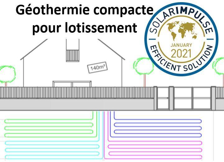 lotissement: la géothermie compacte