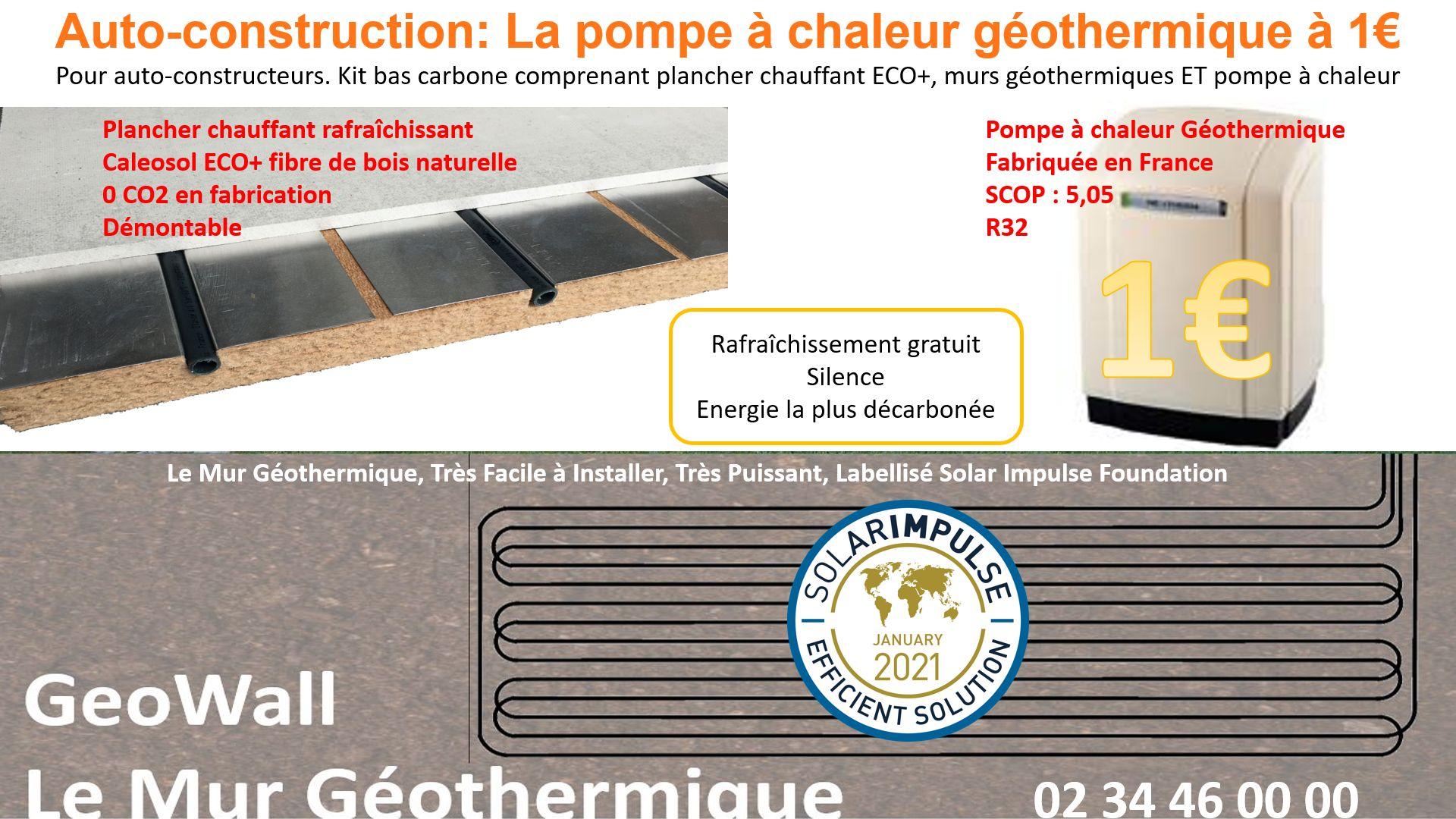 Pompe à chaleur géothermique à 1€ pour l'autoconstruction
