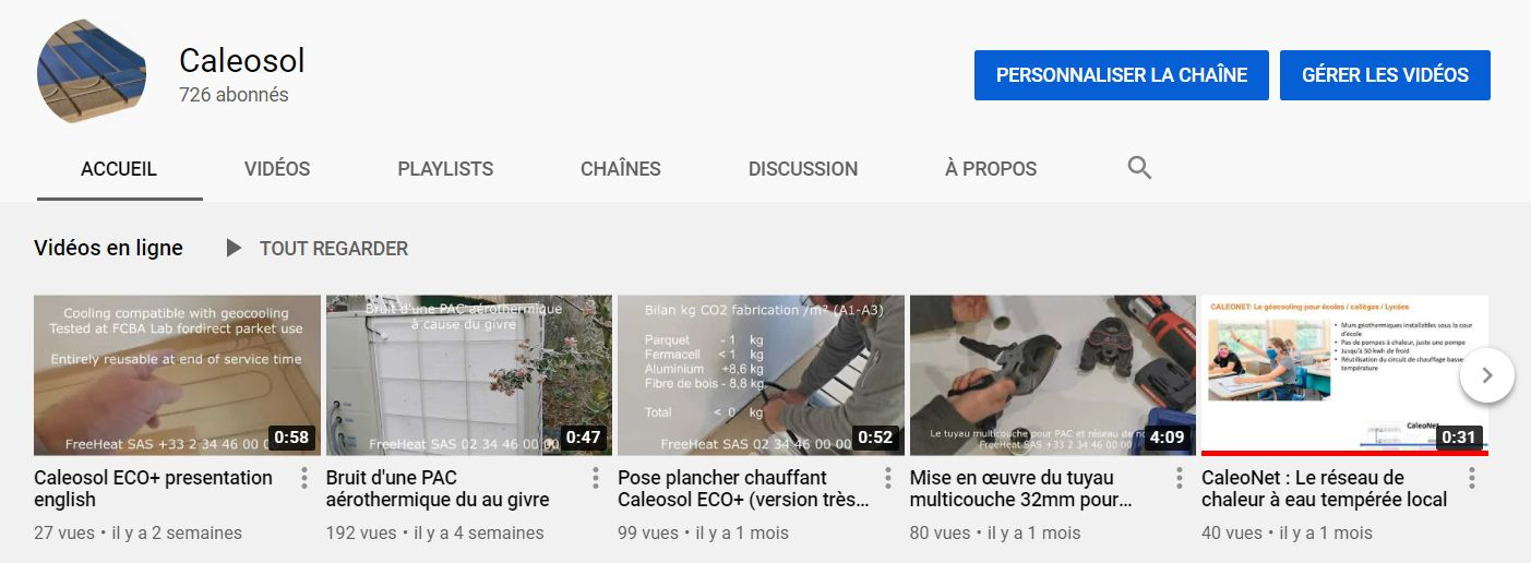 Chaine youtube de guides autoconstruction RE2020