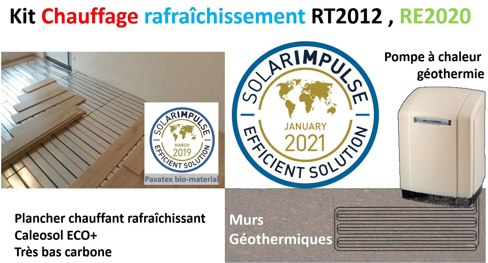 Kit chauffage - rafraîchissement autoconstruction RT2012-RE2020