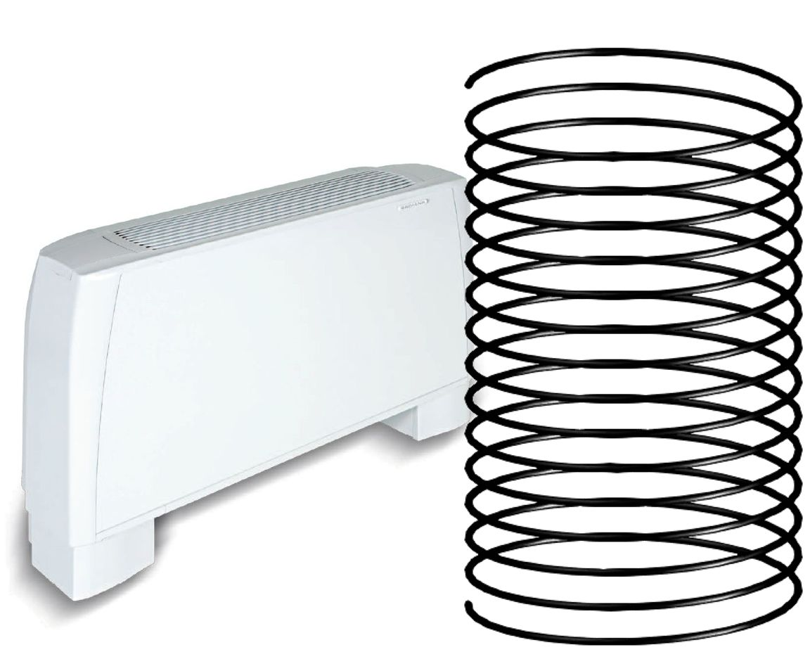 Climatisation pour combles 1 pièce ou 25 m²  - radiateur réversible - géocooling