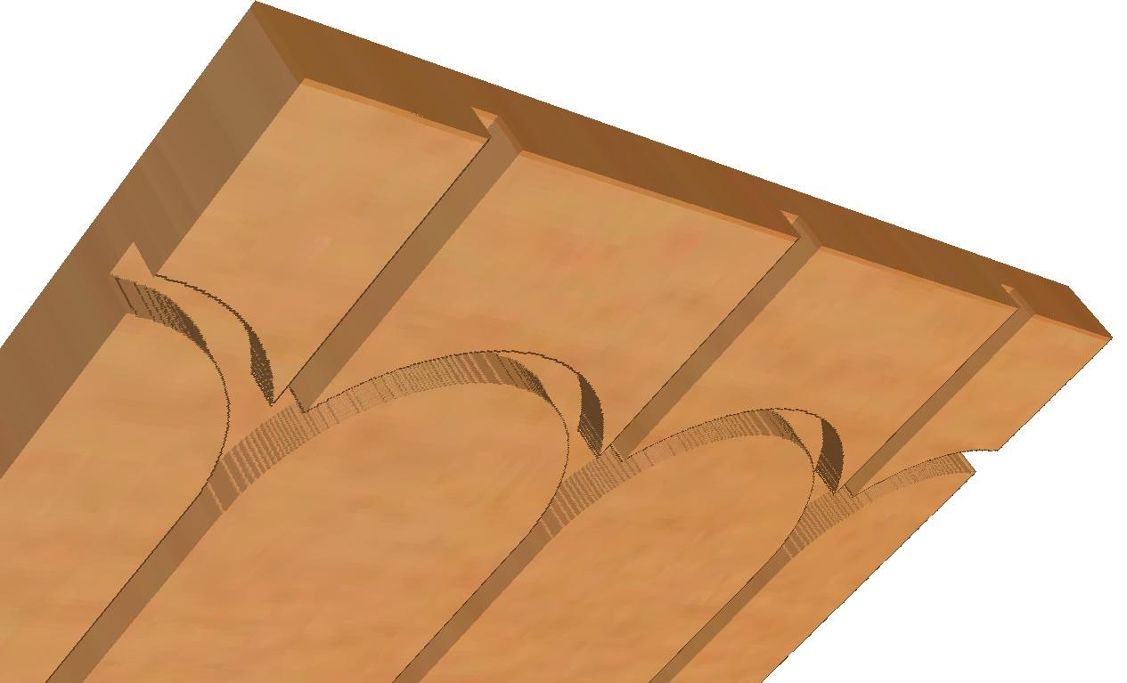 Retours de boucles intégrés pour la plaque du plafond chauffant