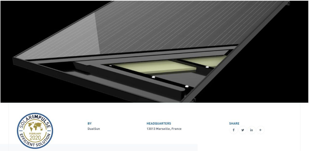 Panneau solaire PVTDualSun pour SolaroPac