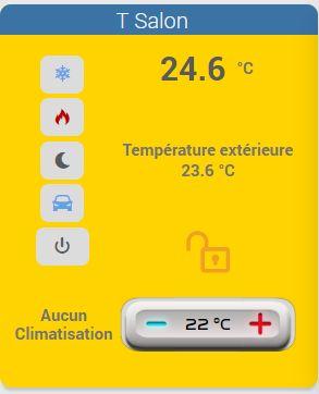 Thermostat sur la Box CaleoDom sous JeeDom