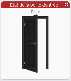Etat de détection d'ouverture de porte domotique
