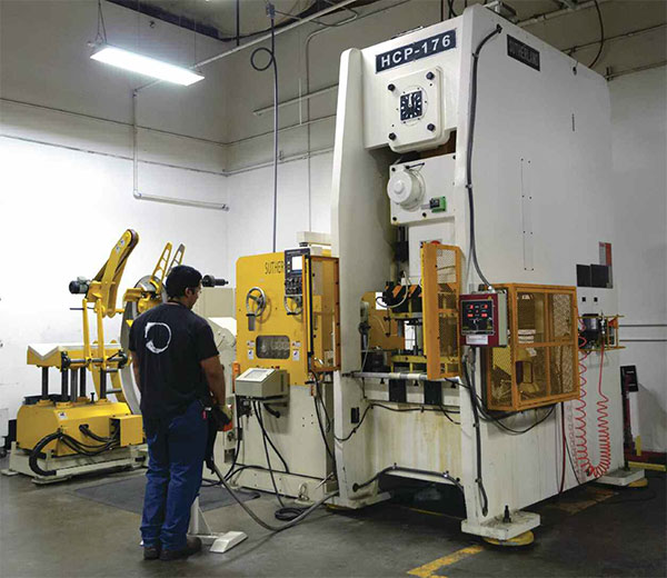 FAB SHOP BRACES FOR SUCCESS WITH NEW STAMPING PRESS