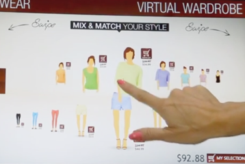 Virtual Shopping Wall