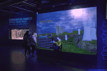 museum touch wall