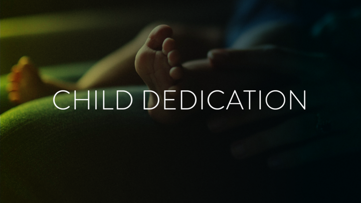 Child dedication place holder image.