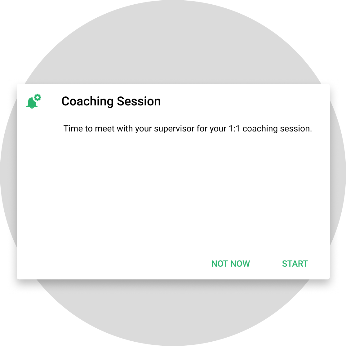 Coaching Session notification example
