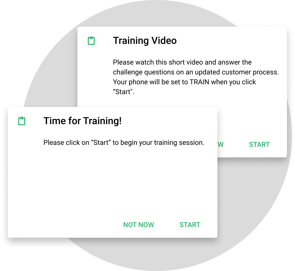 Intraday automation sends training directly to agent desktops during idle  time, ensuring your team receives the development they need to thrive, ...
