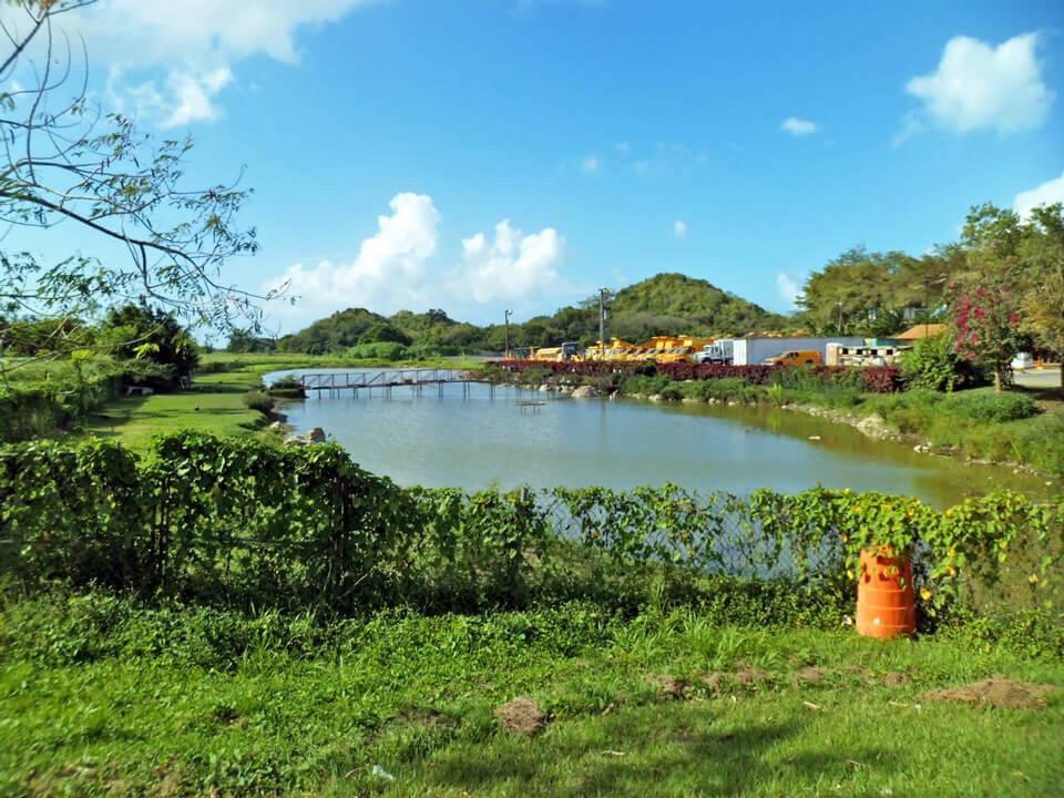 Laguna en Hoyo Mulas, cerca del Vertedero de Carolina, Puerto Rico.