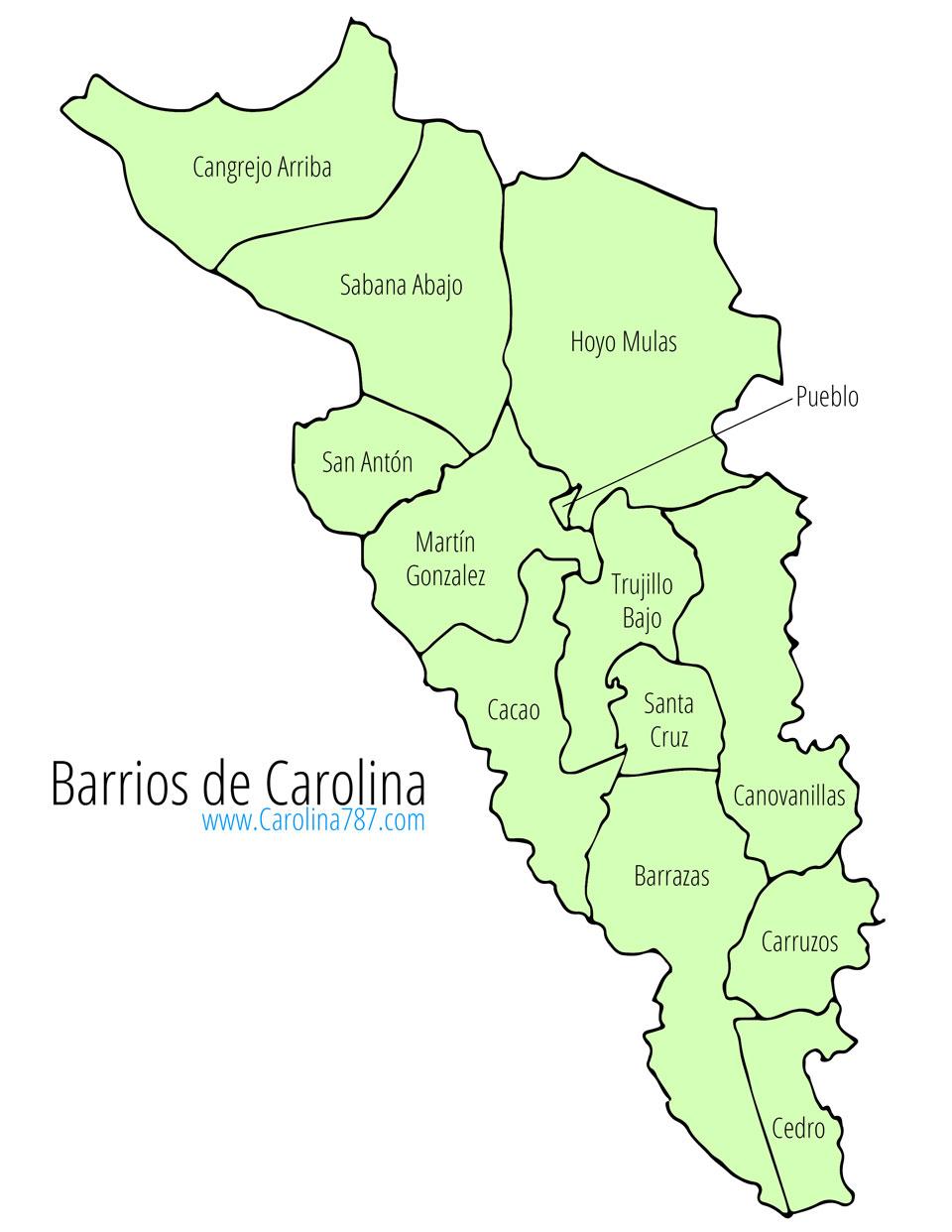 Barrios de Carolina, Puerto Rico.