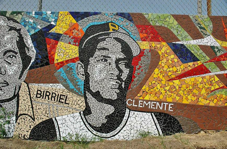 Mosaico de Roberto Clemente Walker en Carolina, Puerto Rico.