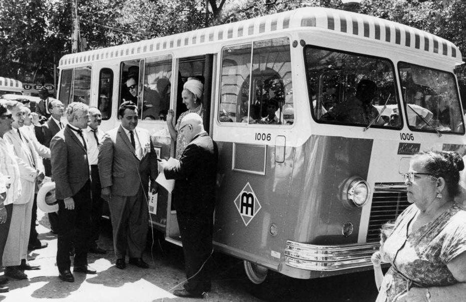 Foto de Doña Fela. Historia de la AMA (Autoridad Metropolitana de Autobuses), Puerto Rico.