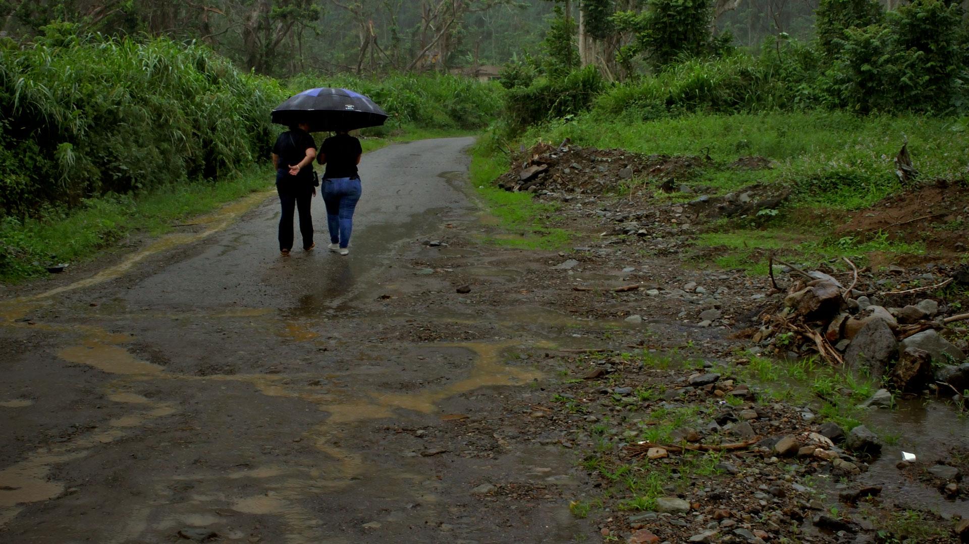 Visita a Orocovis, Puerto Rico tras el Huracán María.