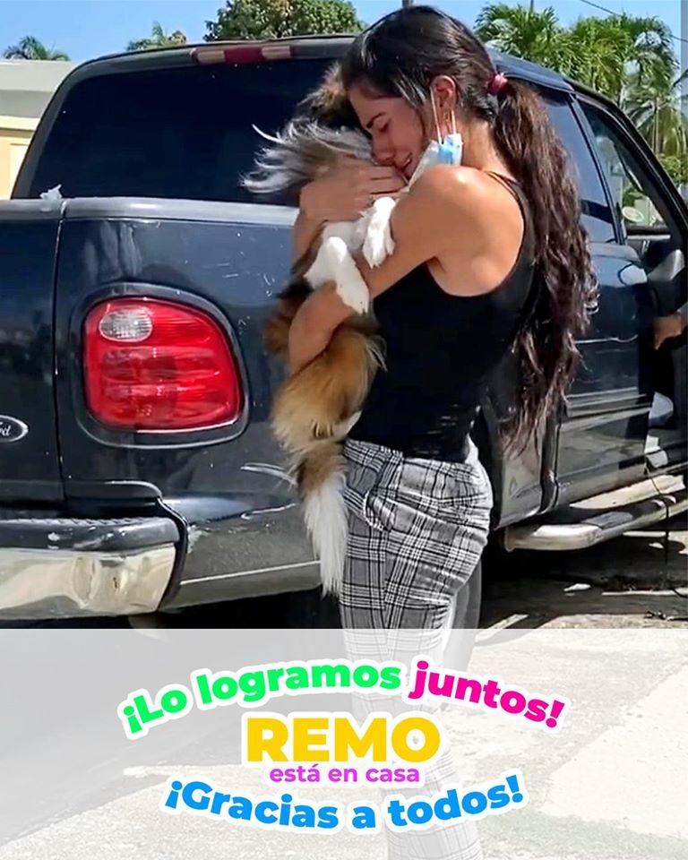 Image may contain: 1 person, standing, text that says 'iLO logramos juntos! REMO está en casa todos! ¡Gracias a'