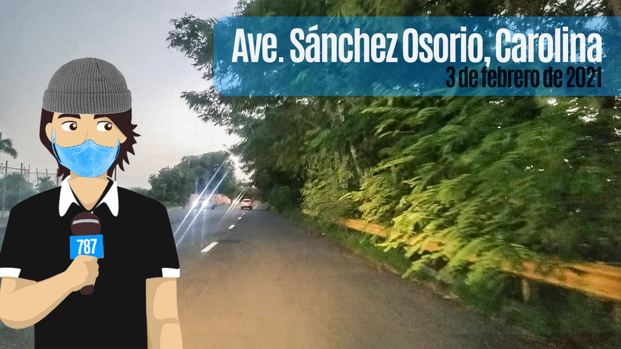 May be an image of one or more people, road, tree and text that says 'Ave Sánchez Osorio, Carolina 787'