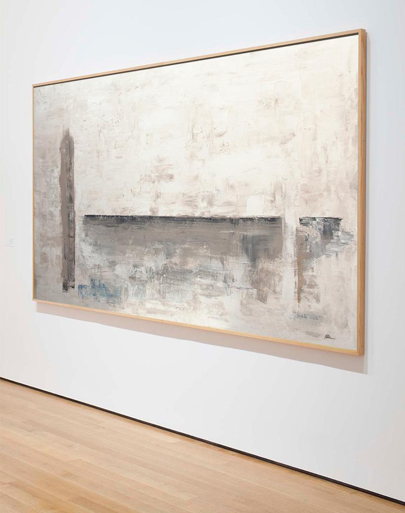 Obra Luz y Sombra colgada en galería de arte