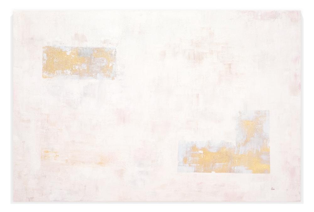 Obra Serie L colgada en pared blanca