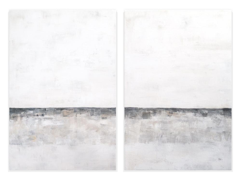 Obra Septiembre colgada en pared blanca