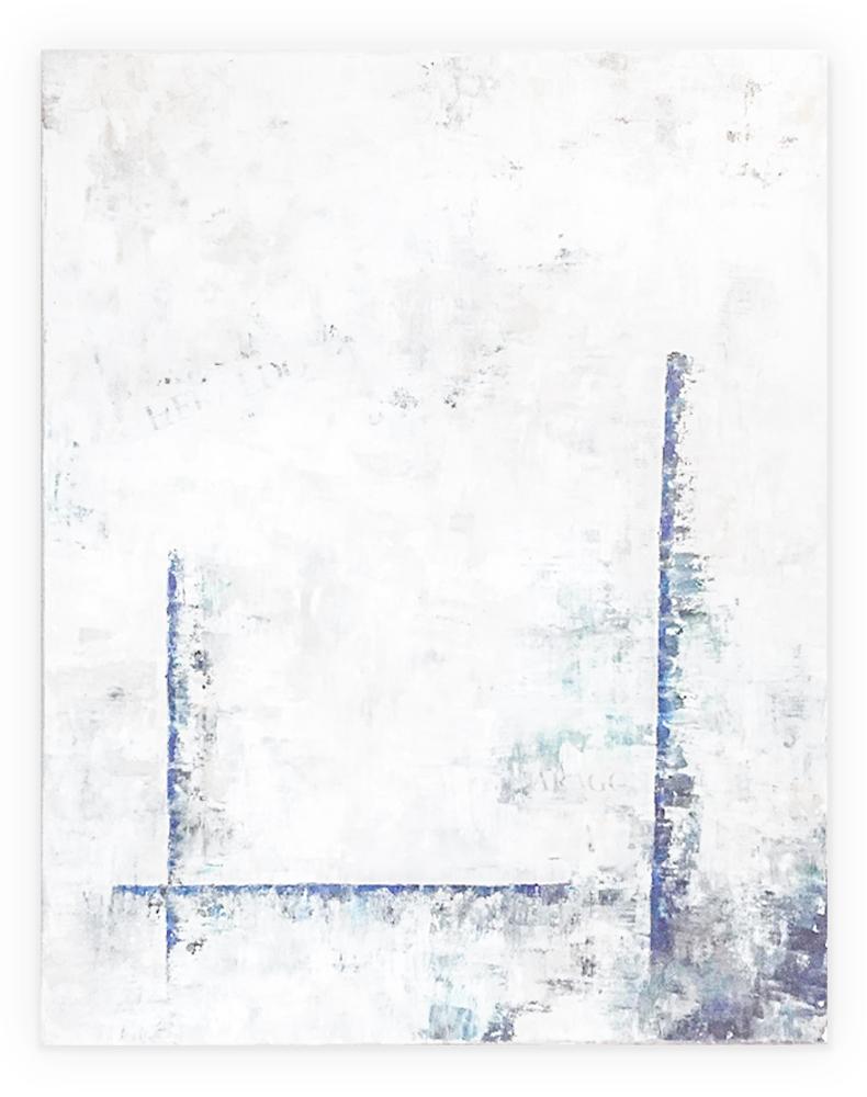 Obra Impresión colgada en pared blanca