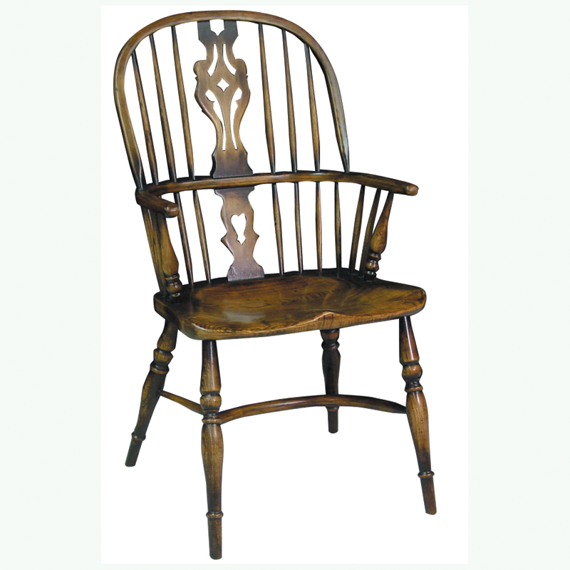 Stump Arm Splat Back Windsor Chair