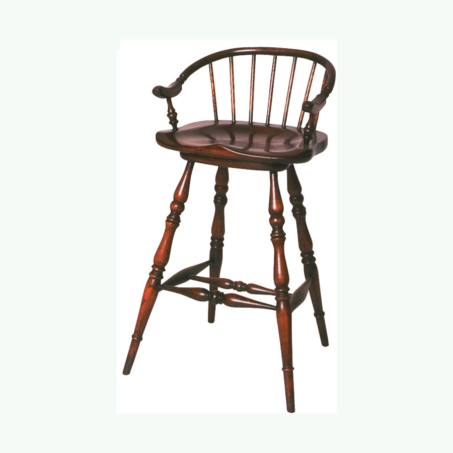 Windsor low back swivel seat bar stool