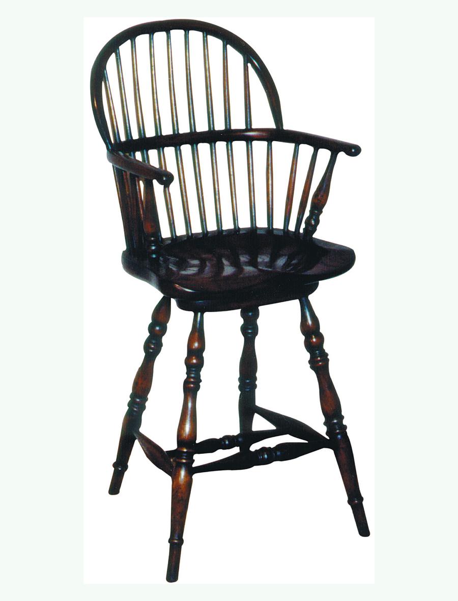 Windsor Stick Back Swivel Seat Counter Stool