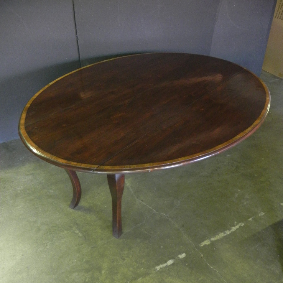 French Leg Drop Leaf Table