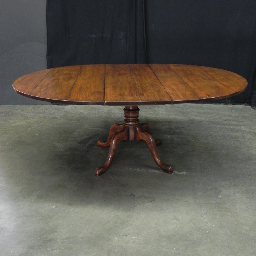 "60 Inch Square Pedestal Table: Antique Cherry 60"" Round Extending Pedestal Table"