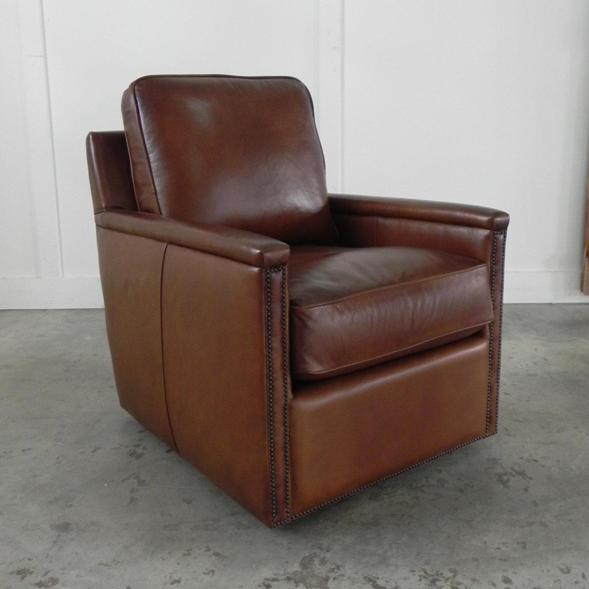 Marvelous Nina Leather Swivel Chair Machost Co Dining Chair Design Ideas Machostcouk