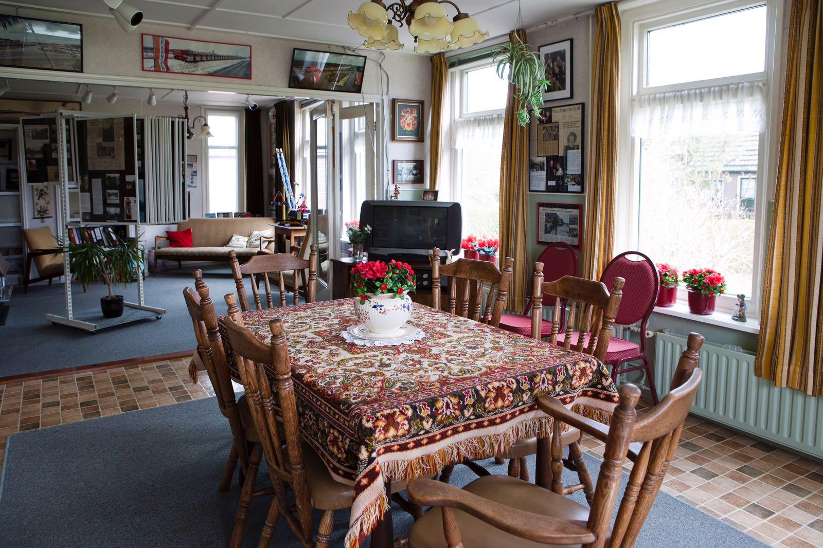 De oude nog originele woonkamer van de familie Spaansen