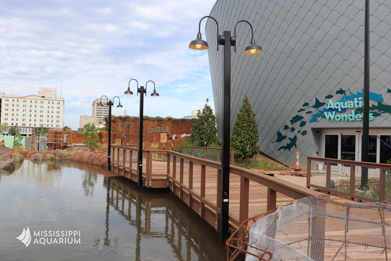 River view on Boardwalk at Mississippi Aquarium