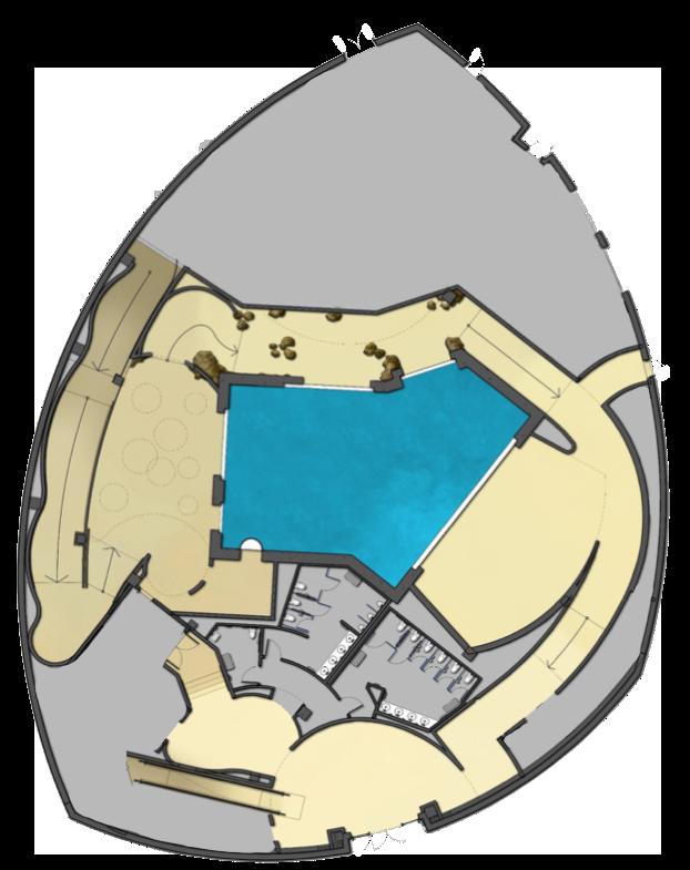First floor layout of Mississippi Aquarium