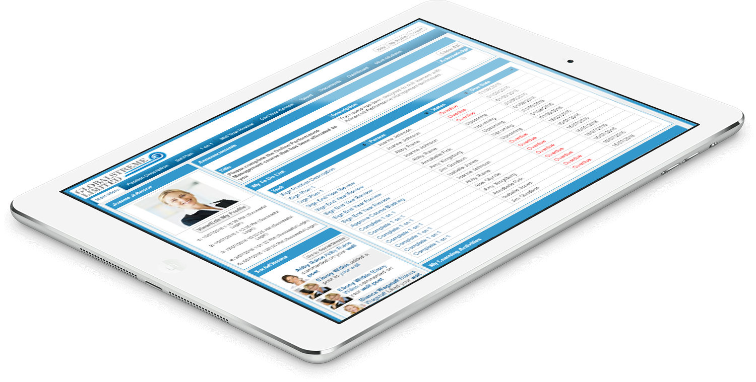 Performance Management on an iPad