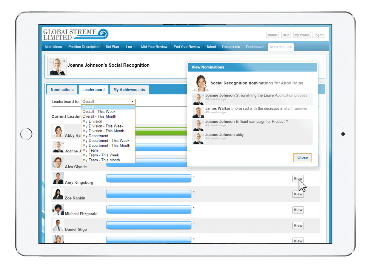 Employee social recognition software peoplestreme recognition designed to align your company values culture maxwellsz