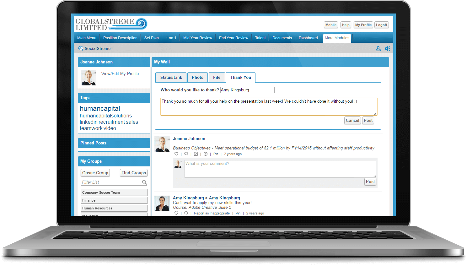 SocialStreme Social HR Software