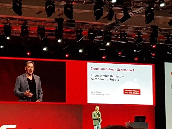 התחיל ולארי לא אכזב Oracle Open World הכנס