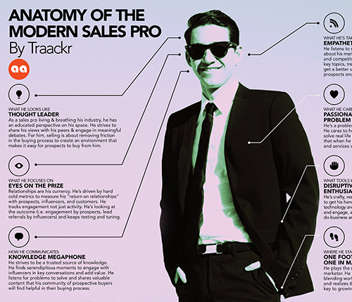 The Anatomy of The Modern Sales Pro Infographic