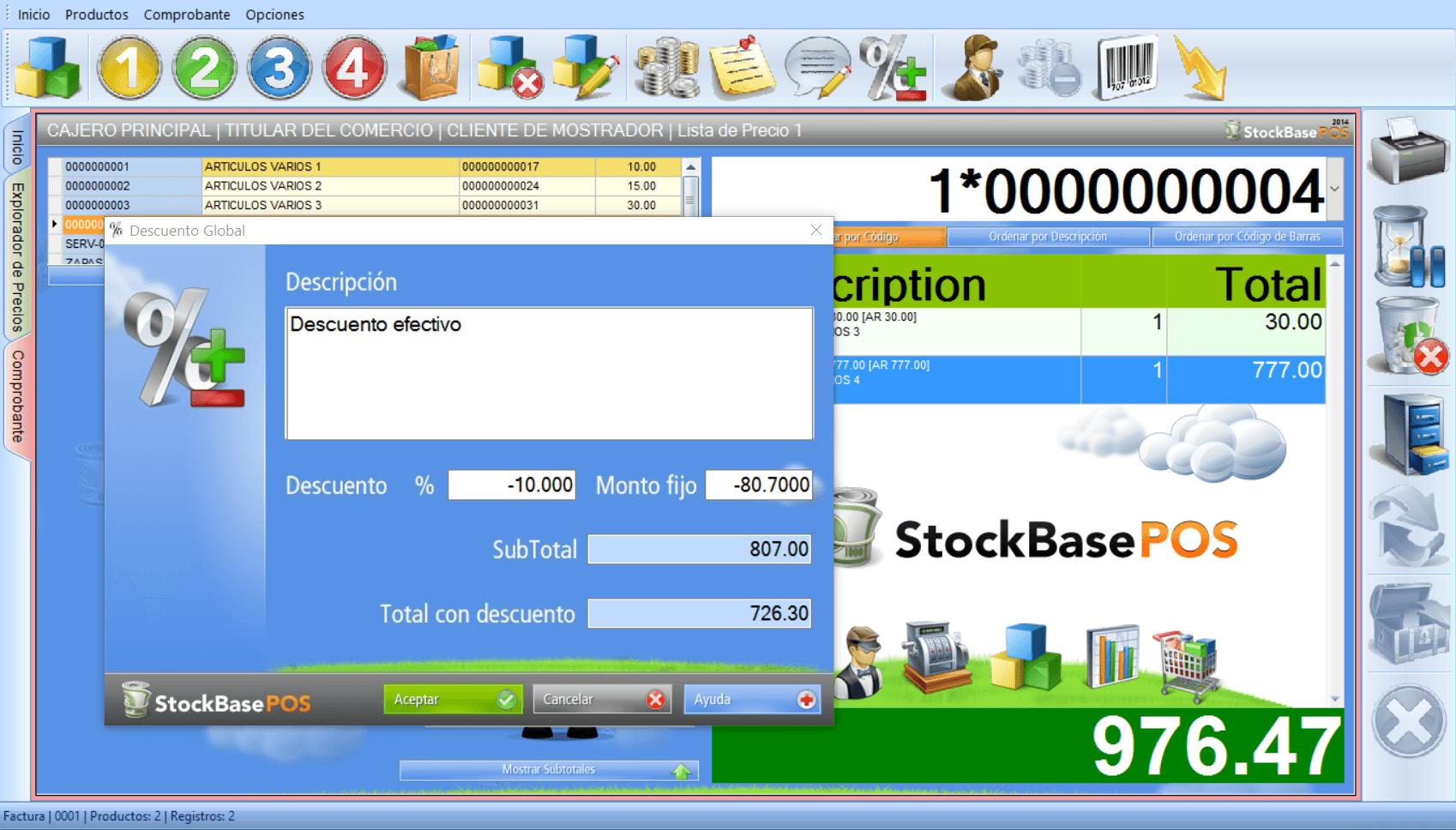 Sistema de asministración de inventarios y facturación de EGA Futura