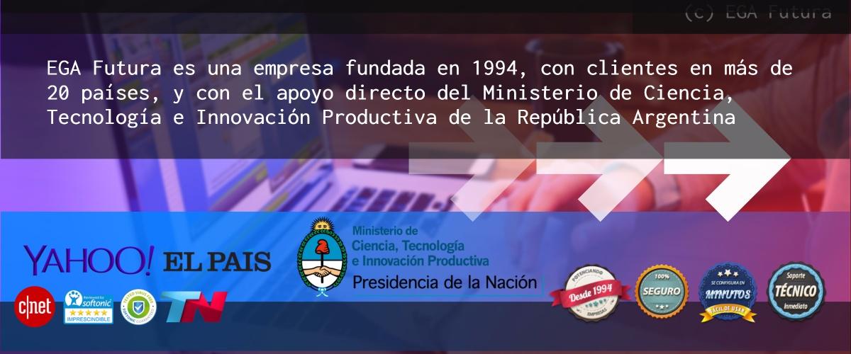 EGA Futura es una empresa Argentina, fundada en Buenos Aires en 1994. Gran parte de nuestros clientes se encuentran en Estados Unidos, España, México, Argentina, Chile, Colombia y el resto de América Latina.