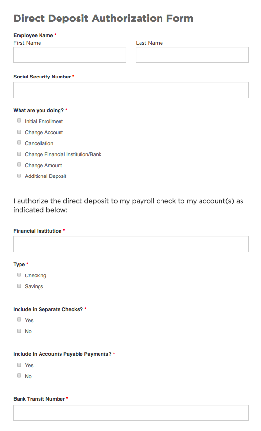 suggested form templates