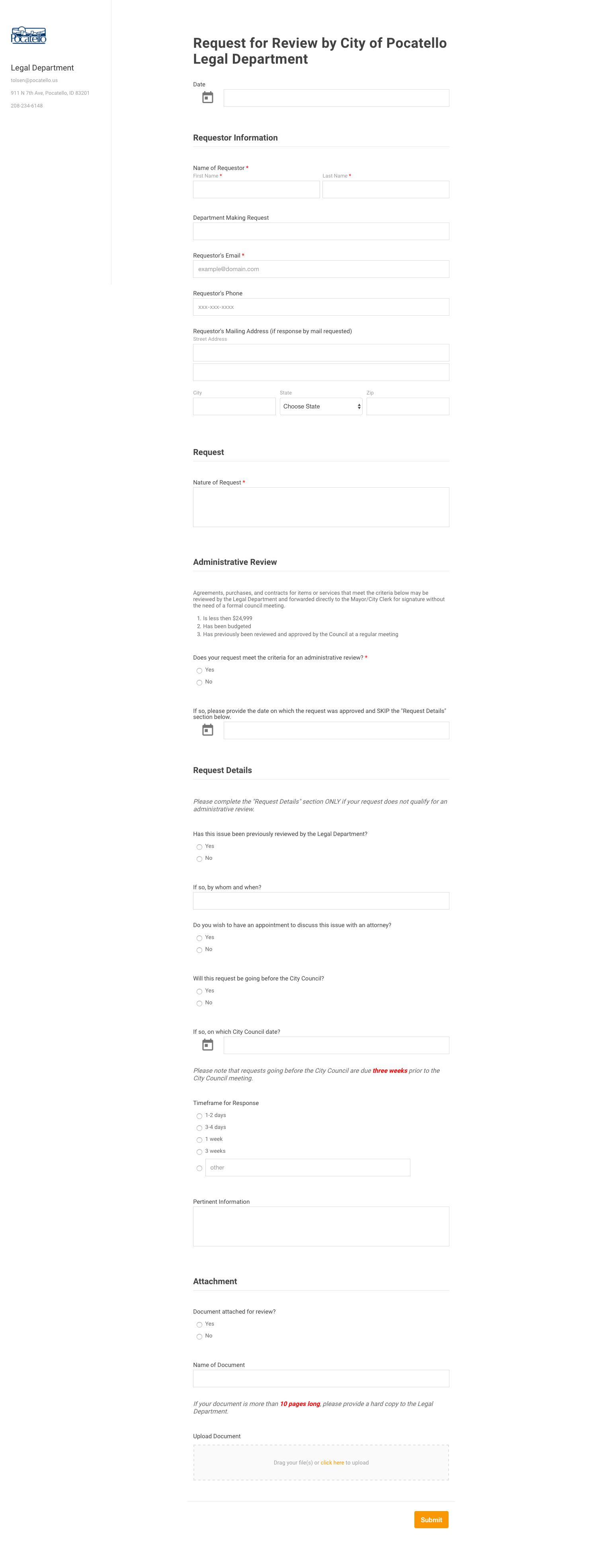Form Examples SeamlessGov Blog - Idaho legal forms