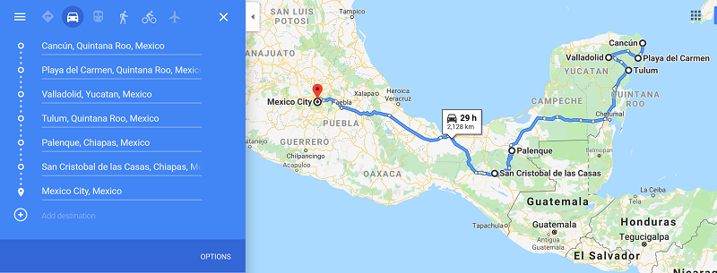 3 week backpacking mexico itinerary