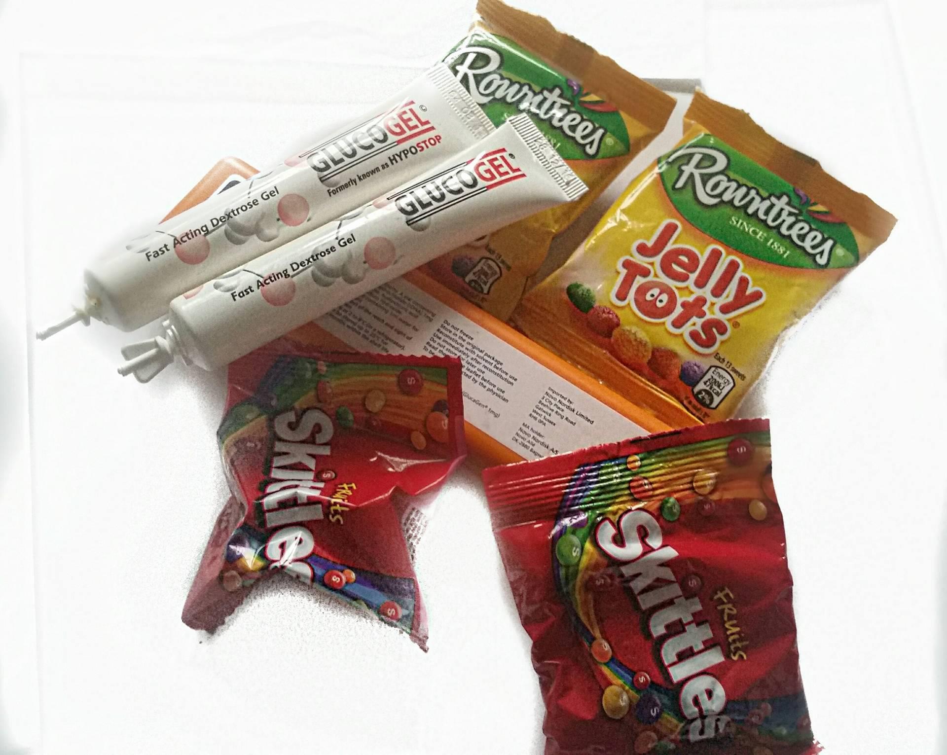 Sugar for type 1 diabetic hypos