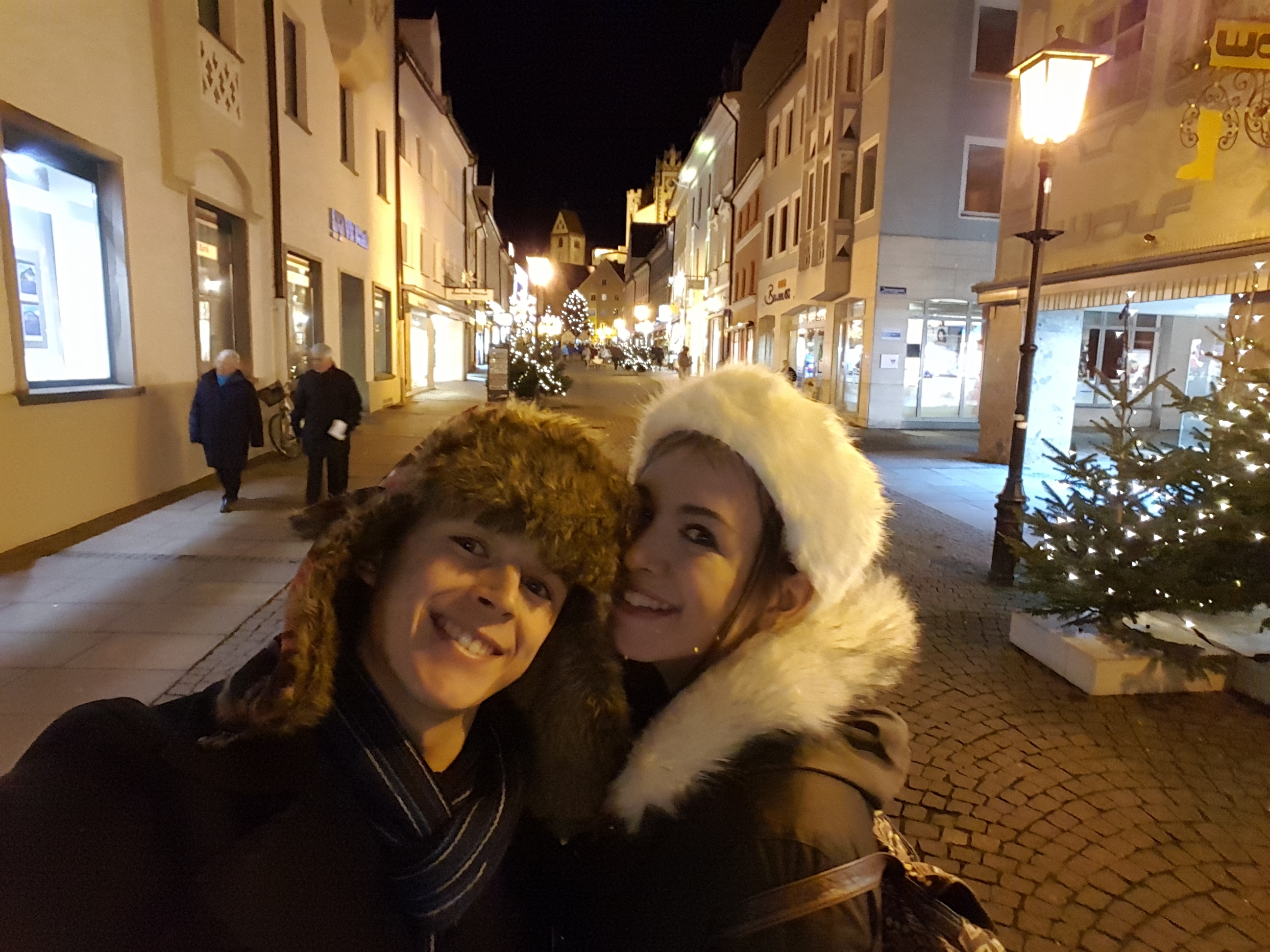 Us in Füssen at christmas