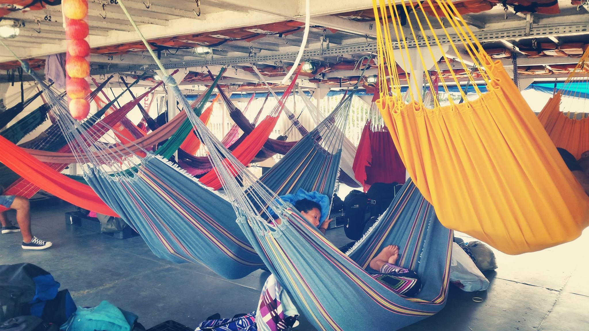 hammocks on the Amazon riverboat from Belem to Manaus