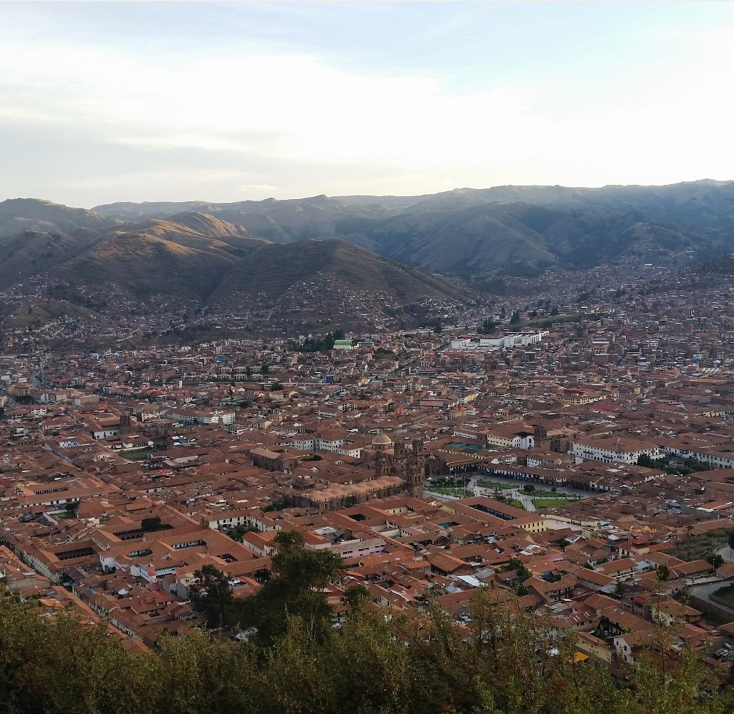 Panarama of Cusco in Peru