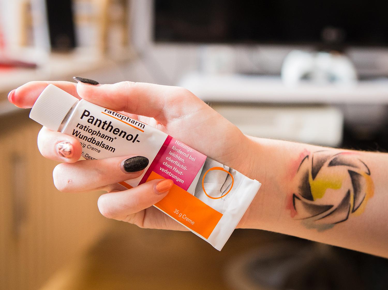 Panthenol cream for tattoos